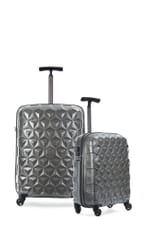 Atom 2 Piece Suitcase Set Medium and Cabin Charcoal